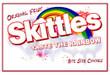 Skittles Vending Machine Label