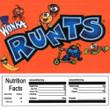 Runts Vending Machine Label