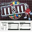 MandMs Plain Vending Machine Label