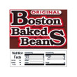 Boston Baked Beans Vending Machine Label