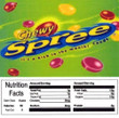 Chewy Sprees Vending Machine Label