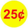 25 Cent Coin Vending Machine Decal Outside