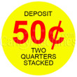 50 Cent Single-Slot Stacked Coin Vending Machine Decal Outside