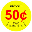50 Cent 2-Slots Coin Vending Machine Decal Outside