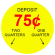 75 Cent 2-Slots Coin Vending Machine Decal Outside