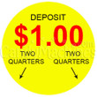 dollar1.00 Vending Machine Decal Outside