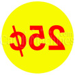 25 Cent Coin Vending Machine Decal Inside