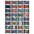 NFL License Plate Team Vending Stickers