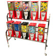 Eagle 10 Unit Gumball and Candy Bulk Vending Rack