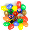 Deluxe Toy Filled Colored Eggs with Gold Premium Eggs Toy Vending Capsules