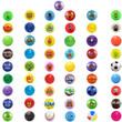 Assorted Inflatable 5-6 inch Vinyl Balls 250 ct
