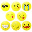 Emoji 5 inch Inflatable Balls 250 ct
