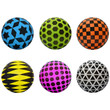 Geometric 5 inch Inflatable Balls 250 ct