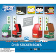 DC Comic Chibi Sticker Boxes Vending Capsules 2 inch