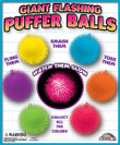Giant Flashing Puffer Ball Vending Capsules 4 inch