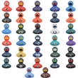 NFL Logo Rubber Ducks 2-inch Licensed 50 pcs
