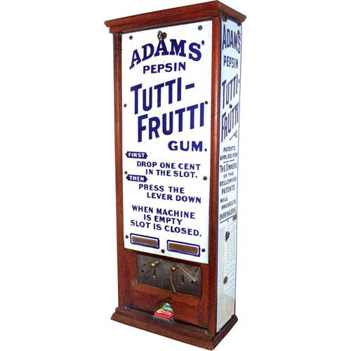 Adams' Pepsin Tutti Frutti Gum Machin