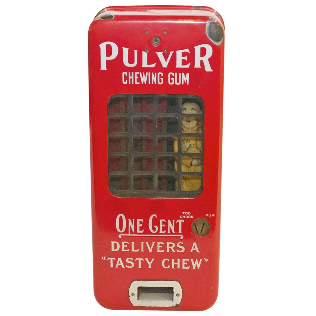 Pulvers One Cent Gum Machine