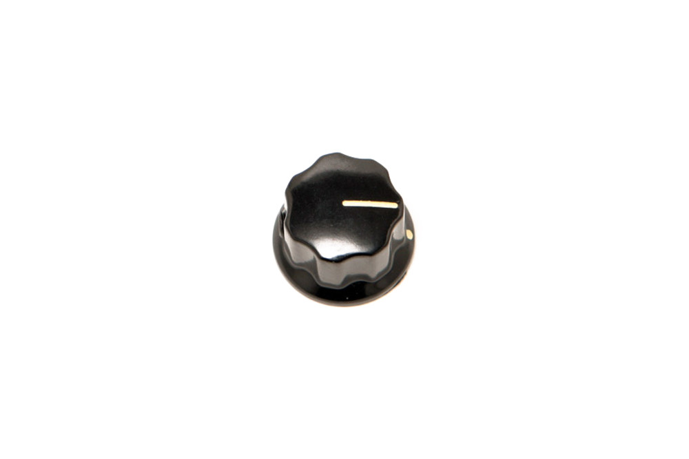 Knob - 408601 - Single Slotted - Medium - Black