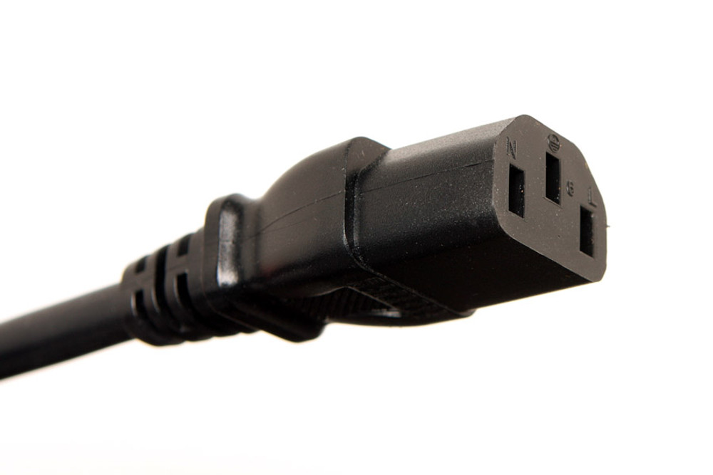 Cable - IEC Power Cord for Guitar Amps - 10 ft.