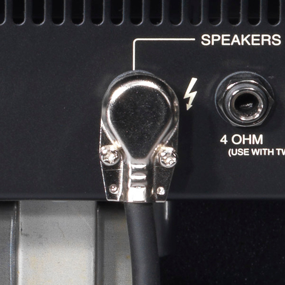 """Cable - Speaker Cord with Plug - 1/4"""" Mono, right angle Male to bare wire ."""