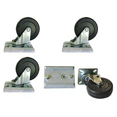 "Y.WH-3R - 3"" Track-Loc Caster Set with Mounting Hardware"