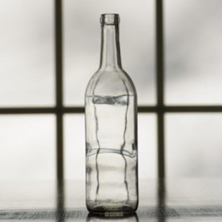 750 ml Clear Bordeaux Bottle