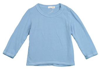 BABY BLUE LONG SLEEVE JERSEY CREW TEE