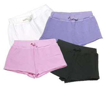 WHITE LAVENDER PINK BLACK SHORTS WITH BACK POCKET
