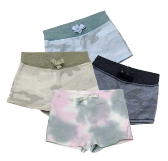 BBLUE NAVY SAGE CAMO PGW TIE DYE SHORTS WITH BACK POCKET