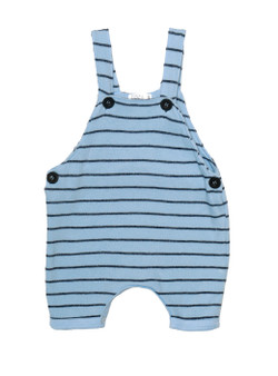 BLUE SUN SUIT WITH NAVY STRIPES