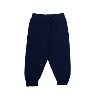 NAVY BACK POCKET SWEAT PANTS WITH RIB CUFF