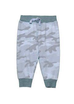 BBLUE CAMO PRINT SWEAT PANTS WITH BACK POCKET