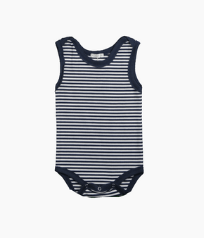 NAVY STRIPE PRINT BOY ONESIE