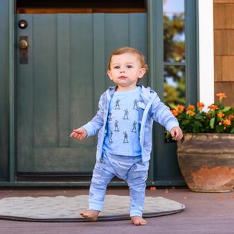 BABY BLUE CAMO HAREM POCKET JOGGER