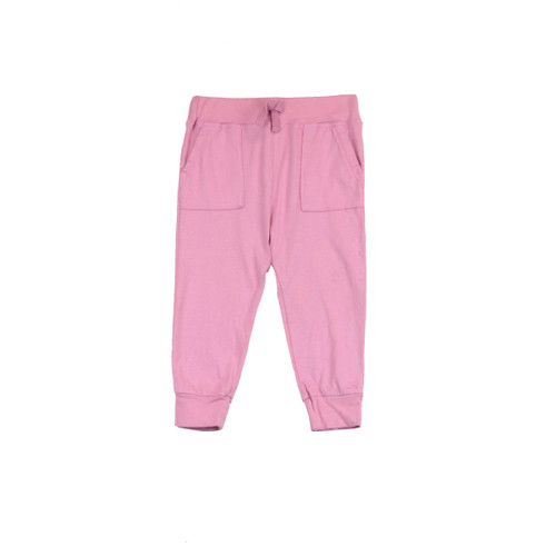 DUSTY PINK HAREM KENIT POCKET PANTS