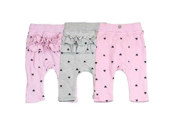 GIRLS HEART PRINT  RUFFLE BACK SWEAT PANTS