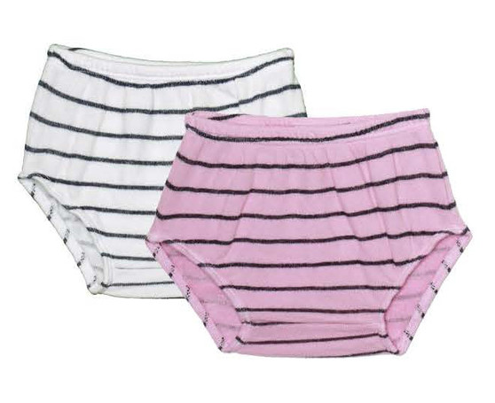 WHITE P PINK NAVY STRIPES DIAPER COVER