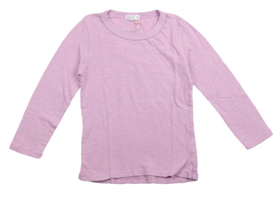 DUSTY PINK LONG SLEEVE CREW TEE