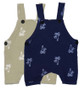 SAGE, NAVY SUN SUIT WITH WHITE PALM TREES