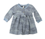 BABY BLUE CAMO PRINT LONG SLEEVE DRESS WITH BUTTONS