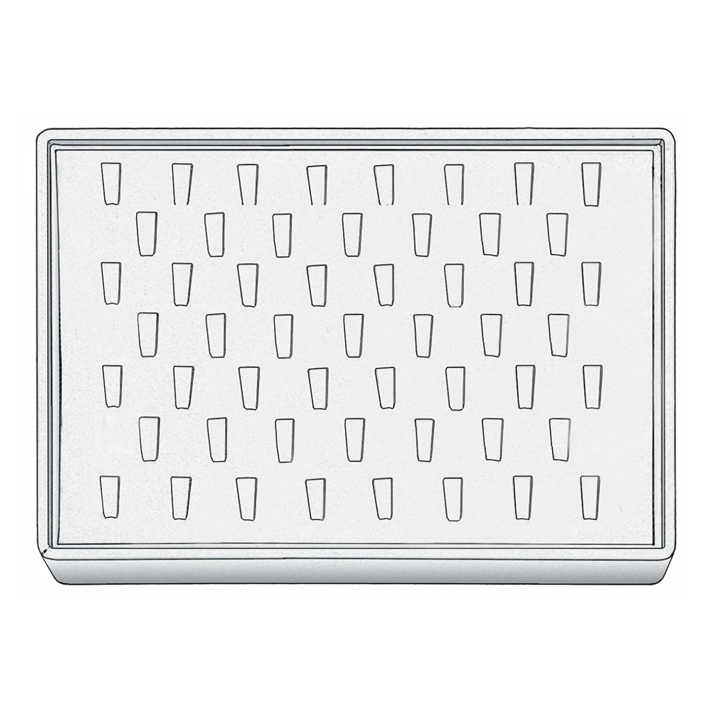 """Stackable Ring Tray, 12 1/2"""" W x 8 3/4"""" D x 1 7/8"""" H RT1253 (WH)"""