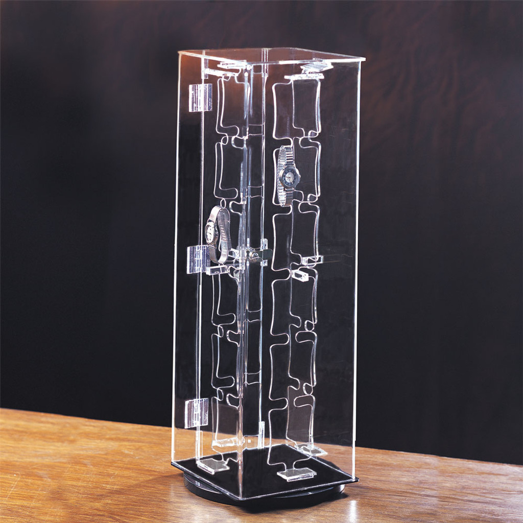 """Acrylic 48-Watches Display Case, 7"""" x 7"""" x 22""""H"""