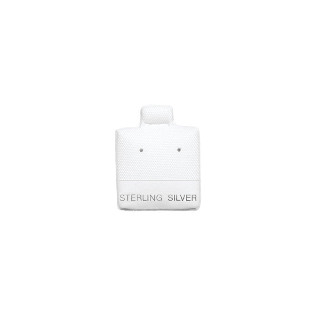 """Small Earring Puff Card (Sterling BX565-3) 1""""x 1"""""""