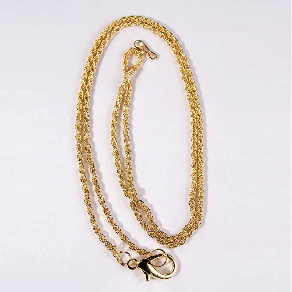 "Loupe Chain, 30""L, Gold-color"