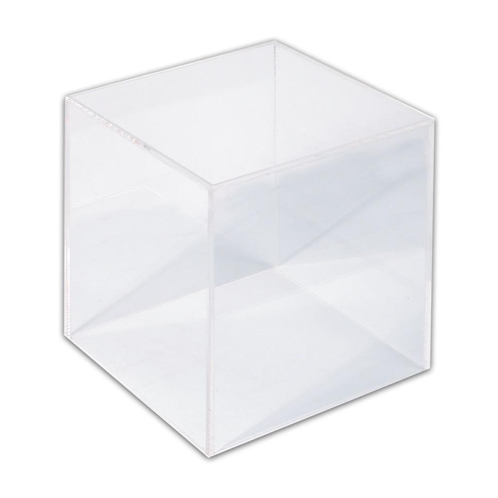 "Acrylic Display Cube, 5"" x 5 "" x 5""H,"