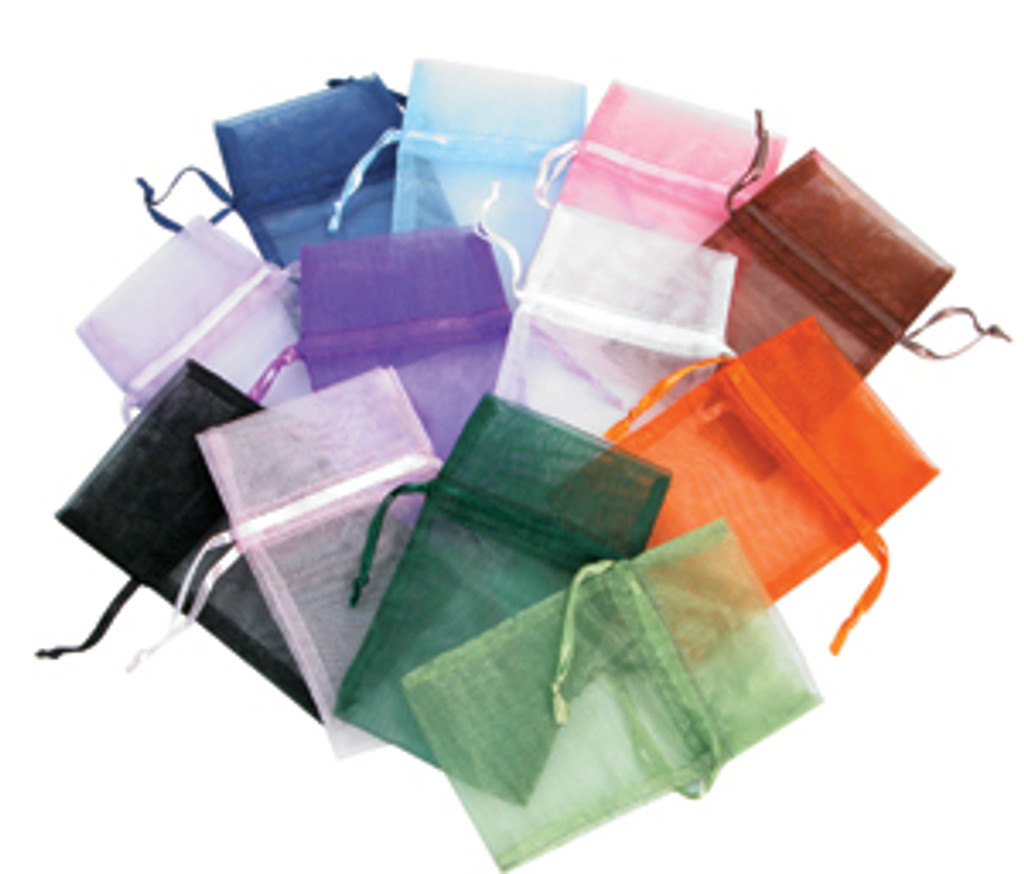 "1 3/4"" x 2"", Organza Drawstring Pouches, Mix 12 Color, price for Dozen,Buy More Save More"