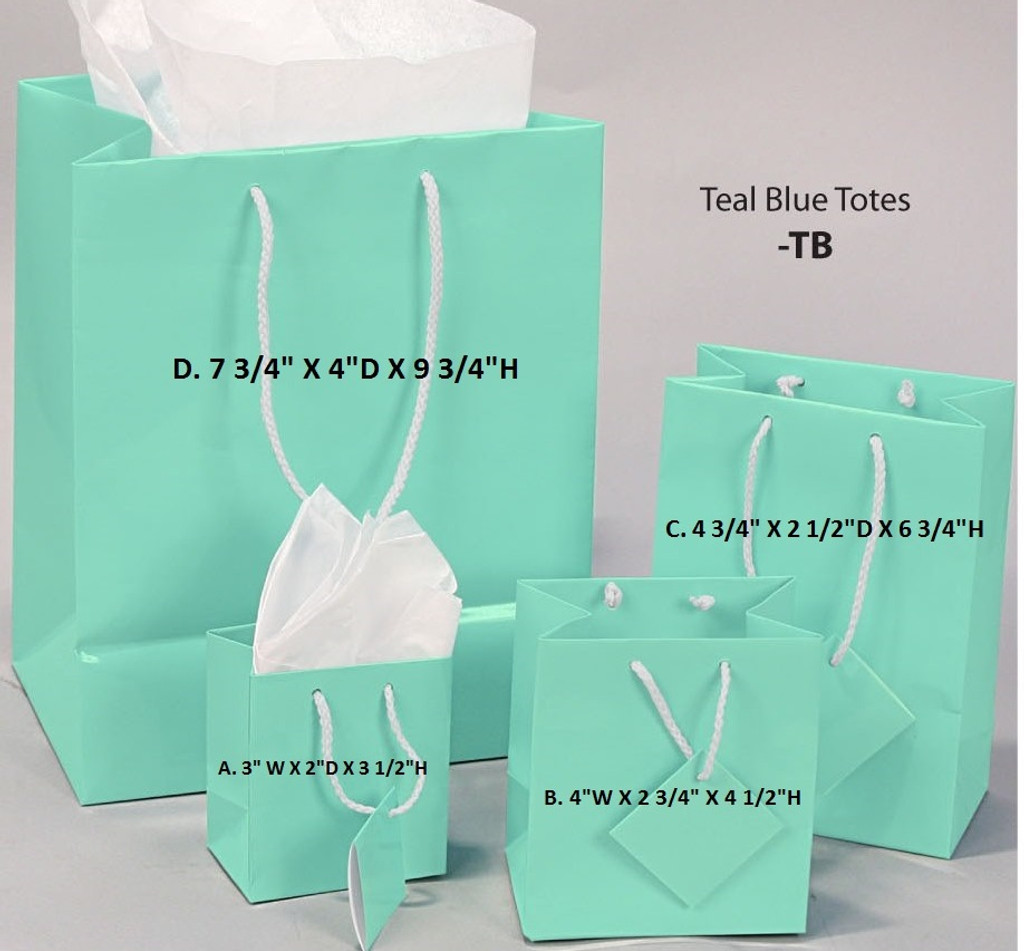 White Tote Gift Bag with Red Bow