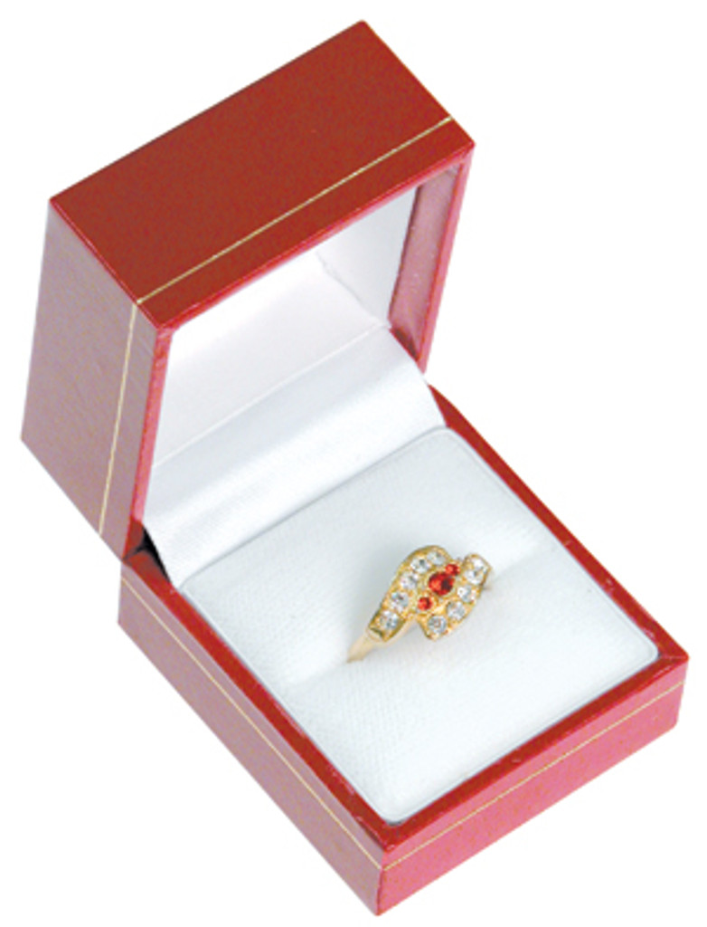 """LR3 Classic Style Ring Box, 1 3/4"""" x 2"""" x 1 1/2"""", Choose from various Color"""