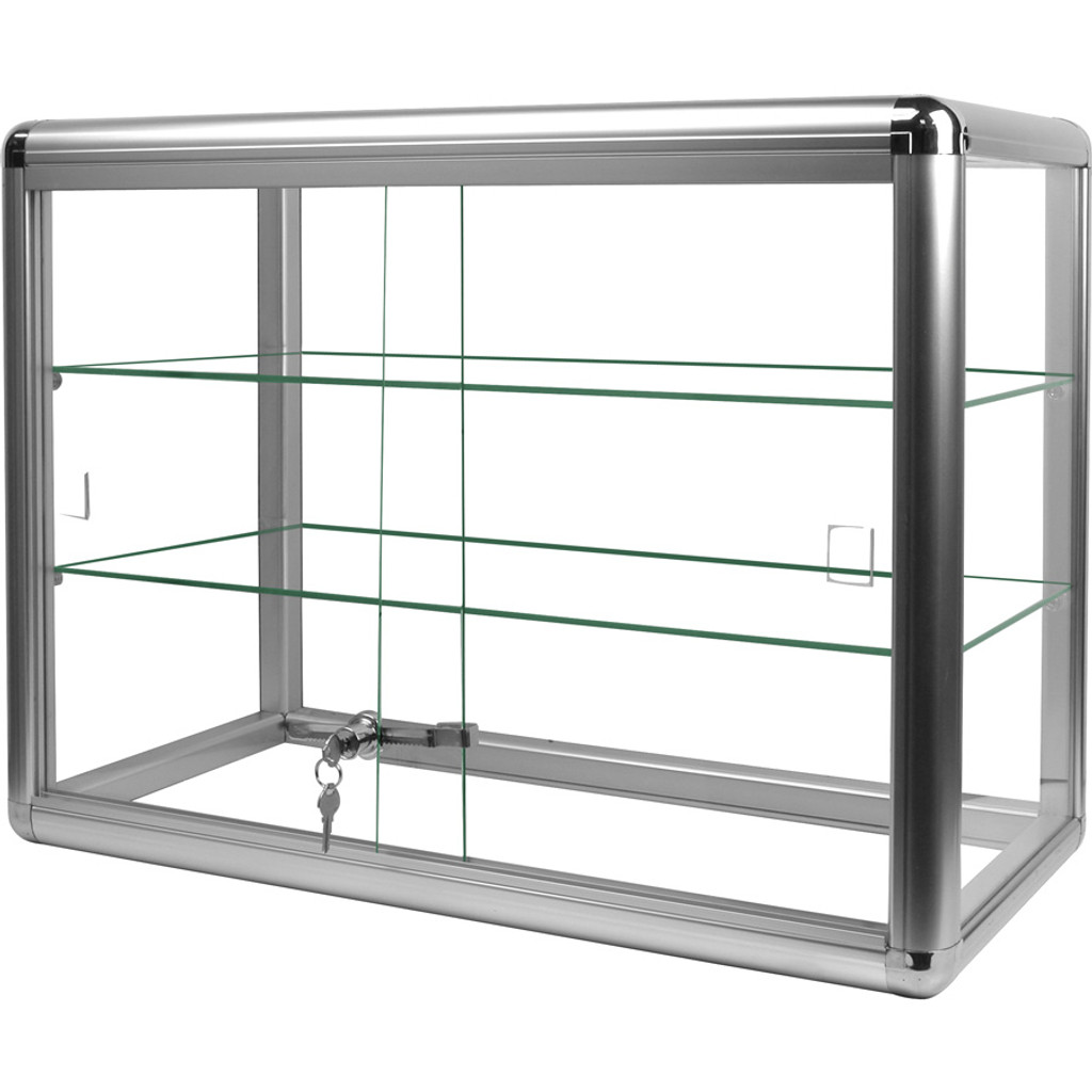 Aluminum Tempered Glass Countertop Showcase